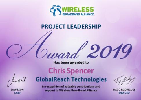 GlobalReach - wireless broadband alliance award